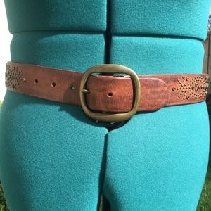 Abercrombie GIRLS' L/XL Studded Leather Belt